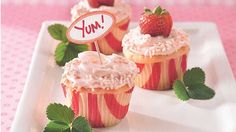 Pop! Cake mix and soda pop create a delicious strawberry-and-cream dessert.
