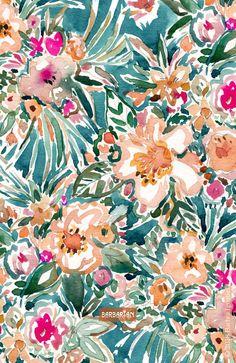 TROPICAL TUMBLE Colorful Paradise Floral