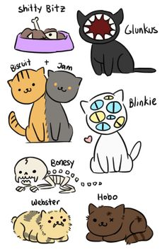 pepper-the-neko:i love hobo and glunkus so I made some cats inspired by them << Omg that's really nice and creepy art! Pretty Art, Cute Art, Neko Atsume, Kitty Games, Cute Comics, Fantasy Creatures, Funny Cute, Animal Drawings, Art Reference