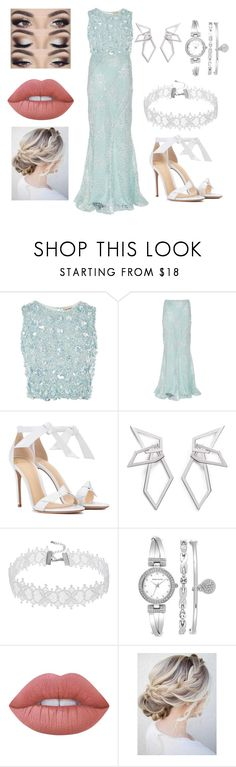 """~41~ [POSTED]"" by xxqueensabzxx on Polyvore featuring Lace & Beads, Alberta Ferretti, Alexandre Birman, W. Britt, Anne Klein and Lime Crime"