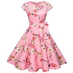Women summer floral dress vintage casual print o neck party work office dress retro rockabilly vestidos Source by Office Dresses Vestidos Vintage, Vintage Dresses, Robe Swing, Swing Dress, Women's Dresses, Summer Dresses, Party Dresses, Floral Dresses, Printed Dresses