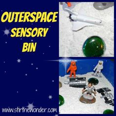Outerspace Sensory Bin from Stir the Wonder