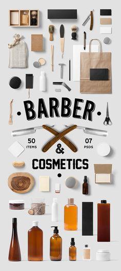 Barber & Cosmetics Mock-Up on Behance