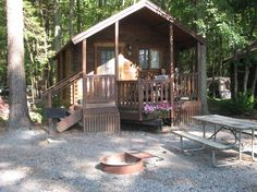 Front View of Barebones Cabin