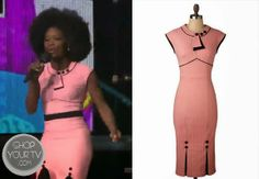 The X Factor: Season 3 Lillie McCloud's Pink and Black Dress
