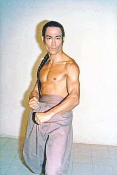 Bruce Lee test photo for Shaw Bros.