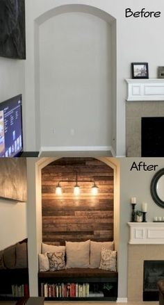 Solution for an empty alcove ~ reading nook