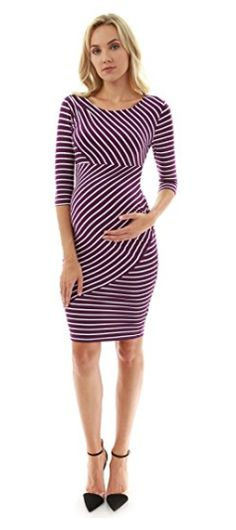 83514abfb6501 $29.74 | PattyBoutik Mama Striped Elbow Sleeve Maternity Dress | maternity  dress | maternity clothes | maternity outfit | maternity wardrobe |  pregnancy ...