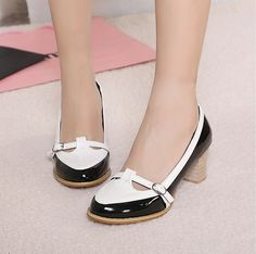 lovely women fashion sneakers thick heel shoes black