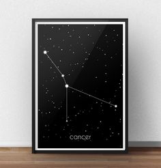 Poster z gwiazdozbiorem Raka (Cancer)  http://scandiposter.pl/plakaty/151-plakat-ze-znakiem-zodiaku-rak.html