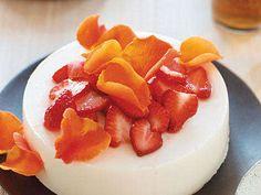 Yogurt Honey Jelly with Strawberries and Roses Recipe   MyRecipes