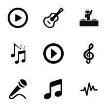 logos for ideas Music Logo, Art Music, Music Cookies, Vinyl Printer, Modern Quotes, Glyph Tattoo, Totenkopf Tattoos, Photos Hd, Fire Tattoo