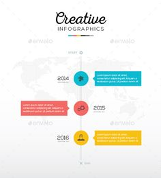 Flat Timeline Infographic With Three Options Template EPS, AI #design Download: http://graphicriver.net/item/flat-timeline-infographic-with-three-options/9606516?ref=ksioks