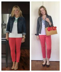 MeginTime: Pinspiration: Mixing Coral Pants into a Spring Wardrobe