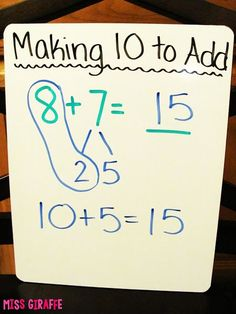 Fun tips for teaching making a 10 to add