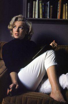 """Hollywood, 1953. """"Actress Marilyn Monroe at home."""""""