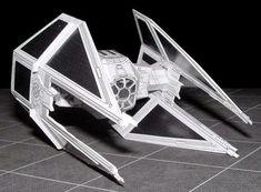 PAPERMAU: Star Wars - TIE-Interceptor Paper Model - by Sci-Fi Papercraft