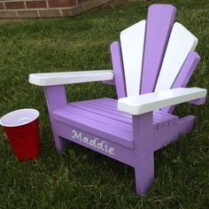 Children's Adirondack Chair by Shawn Mergler
