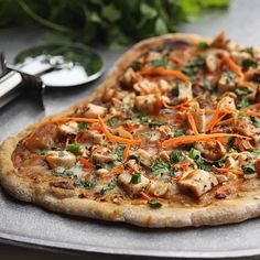 Thai Peanut and Chicken Flatbread - The Hopeless Housewife