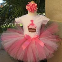 Pink Cupcake Bash Birthday Tutu, Girls Party Tutus, First Birthday Outfit
