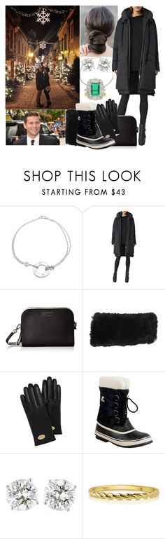 """""""Walking around the town of Wassenar & looking at all the Christmas lights with Rick"""" by pompcircumstance ❤ liked on Polyvore featuring Cartier, AllSaints, Marc by Marc Jacobs, Mulberry, SOREL, BERRICLE and Chaumet"""