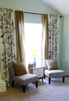 fabrics for a total of 4 curtain panels love