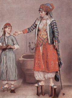 18th century turkish costume | Jean-Étienne Liotard, Woman in Turkish costume in a hamam
