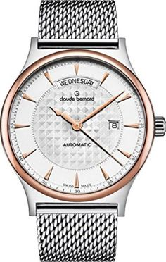 Claude Bernard Men's 83014 357RM AIR Classic Gents Automatic Day-Date Analog Display Swiss Automatic Two Tone Watch by claude bernard -- Awesome products selected by Anna Churchill