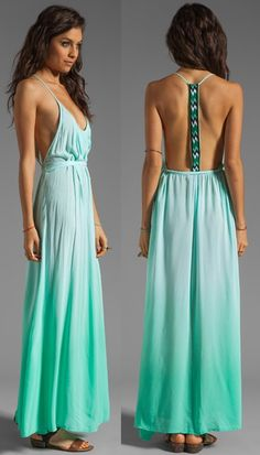 gorgeous! #ombre #mint #summer