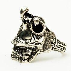 Saddle Ring Vintage Western Sterling Silver Ring , Size 8 . www.spoonier.etsy.com
