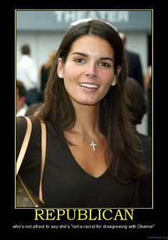 """Angie Harmon, Republican...Woo Hoo...love this lady!! There ARE some smart and free thinkers in Hollywood!!! """"YES"""""""