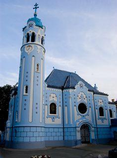 Kék templom, Pozsony / Bratislava, Slovakia Bratislava Slovakia, Old Churches, Hungary, Notre Dame, Art Nouveau, Europe, History, Architecture, Building