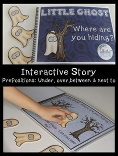 Have little ghost help teach children about the prepositions under, over, between and next to in this interactive story.