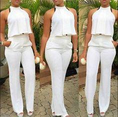 Fashion Halter Neck Sleeveless Two-piece Pants Set