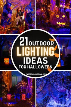 These Halloween outdoor decor ideas are AWESOME!! I'm definitely going to have the best front yard Halloween lighting in the neighborhood using these ideas. Halloween Graveyard, Halloween Scene, Halloween Banner, Halloween Haunted Houses, Outdoor Halloween, Scary Halloween, Haunted House Decorations, Halloween Yard Decorations, Halloween Party Decor