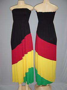 Rasta Clothing | Rasta Empress Tube Full Length Dress.Size:S,M,L in H dress home ...