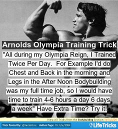 Bodybuilding - Arnies Olympia Training Trick