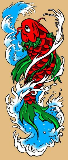 Photoshop, Pastel, Colorful, Animals, Fictional Characters, Art, Coy Fish, Japanese Tattoos, Art Background
