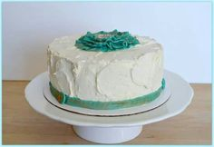 Chocolate cake with rosewater buttercream