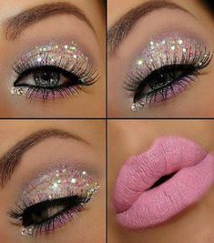 Glitter Make-up. For the days that you wanna look like a hooker