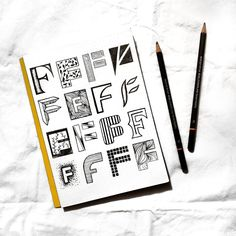 Joining in on with and Here are my 16 letter Fs. It was a challenge to come up with so many, but I loved… Hand Lettering, Typography, Challenges, Letters, My Love, Inspiration, Instagram, Art, Designer Fonts