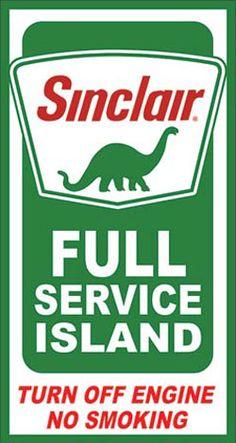 Sinclair Gasoline Signs - Garage Art