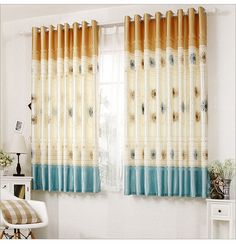 The new arrival High quality floral pattern curtains finished/Decoration short blackout curtain finished products
