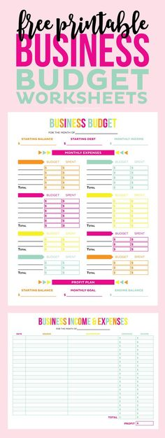 Free Business Income and Expense Tracker + Worksheet Pinterest - budget online free