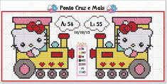 Valentine Gift Baskets, Valentine Gifts, Hello Kitty, Crochet Diagram, Crochet Shawl, Cross Stitch Charts, Cross Stitch Patterns, Hama Beads, Cross Stitching