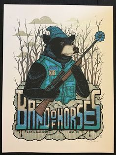 Jim Mazza Band of Horses Tulsa Poster Release... #Arsetculture #Inside_the_Rock_Poster_Frame #Gig_Posters