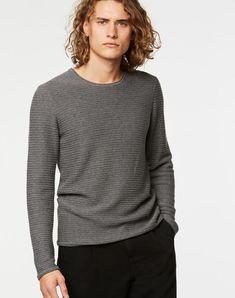 Enrik Ottoman Pullover Mid Grey Melange aus Biobaumwolle #veganemode #fairfashion #biobaumwolle Models, Ottoman, Turtle Neck, Sweatshirts, Sweaters, Shopping, Medium, Fashion, Vegan Fashion