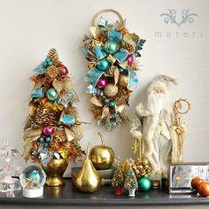 フェスティブポットツリー62cm|クリスマス雑貨の通販【マテリ】 |