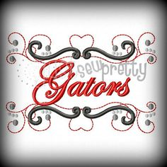 Gators Pride Embroidery Design by justsewpretty on Etsy