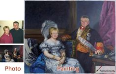 Custom oil portrait-Couple